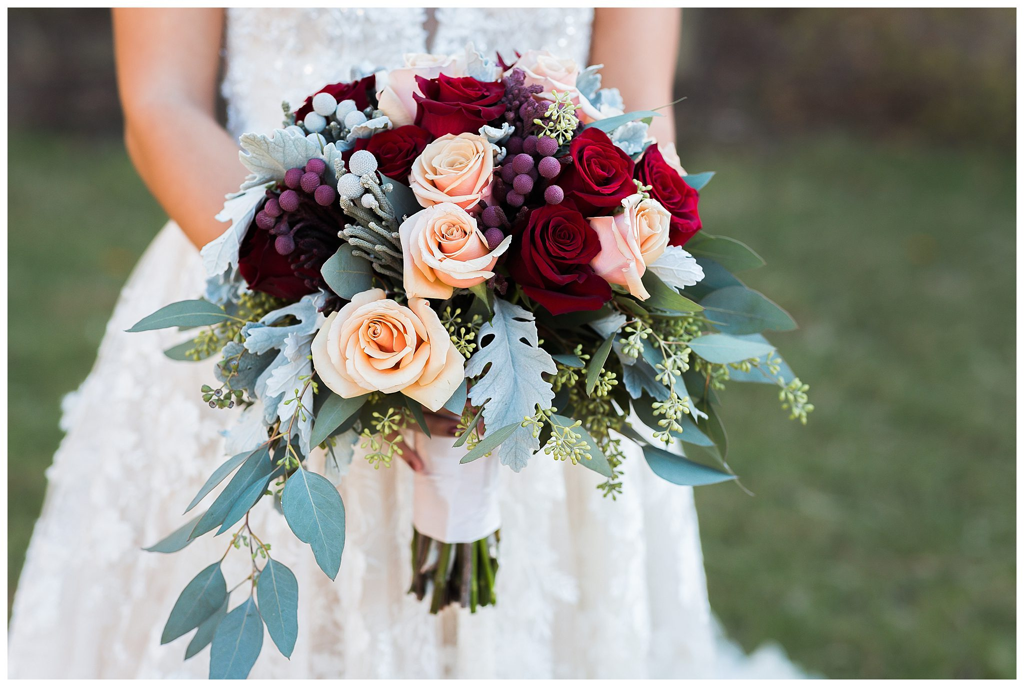 The Pavilion at Carriage Farm Wedding Bouquet by Fallon's Flowers